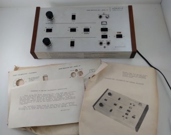 Vintage Advent Model 101 Noise Reduction Unit with Original Instruction Manual