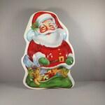 Vintage Santa Claus Cookie Tray, Relish Tray, Snack Tray, 1950's Decor, Vintage Christmas, Vintage Christmas Tray, Vintage Christmas Decor