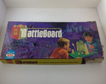 Vintage Battleboard Game by Ideal 1972 Game Room Decor 70s Games Kids Games Two Player Game