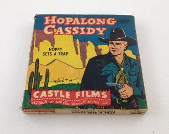Vintage Castle Films Hopalong Cassidy Hoppy Sets a Trap 8 mm Movie #582