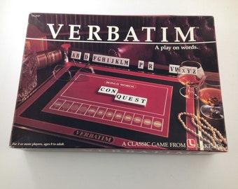 Vintage Verbatim A Play on Words Game 1985 Lakeside Games