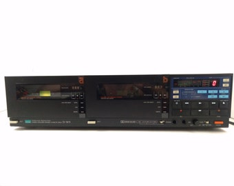 Vintage Sansui D-W9 Compu-Synchro Double Cassette Deck with Instruction Manual Vintage Electronics