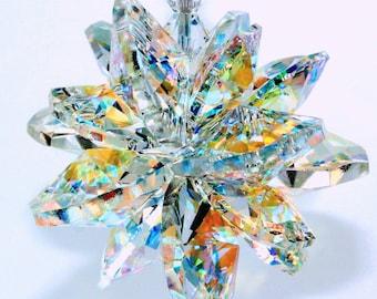 4f226b8d3 m/w Swarovski® crystal, The ORIGINAL 16 Octagon SUPER STAR Burst 18mm &  14mm Aurora Borealis Suncatcher Ornament, Pearl Place N More