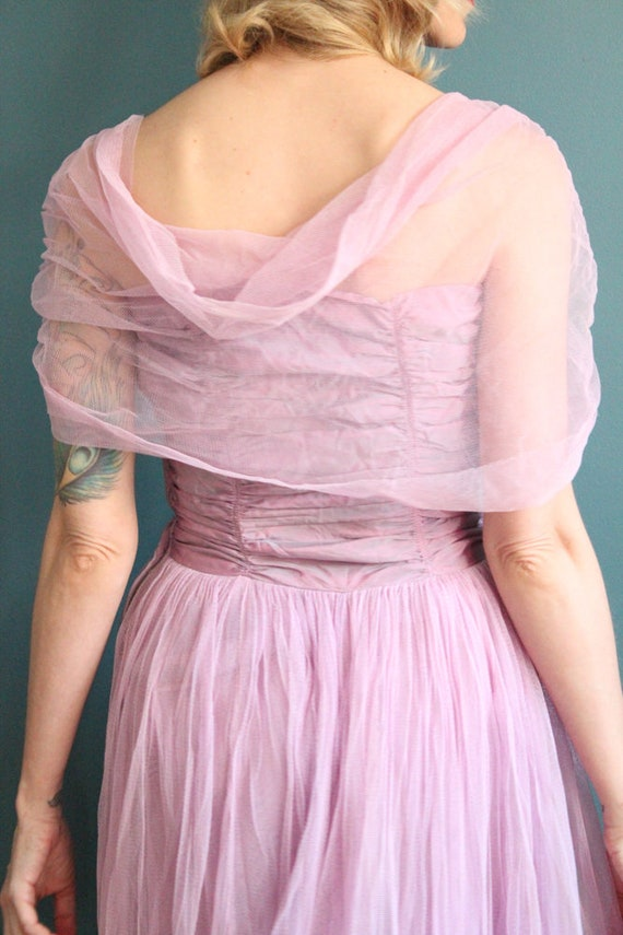 Late 1940s Gown // Debutante Tulle Gown // Vintag… - image 7