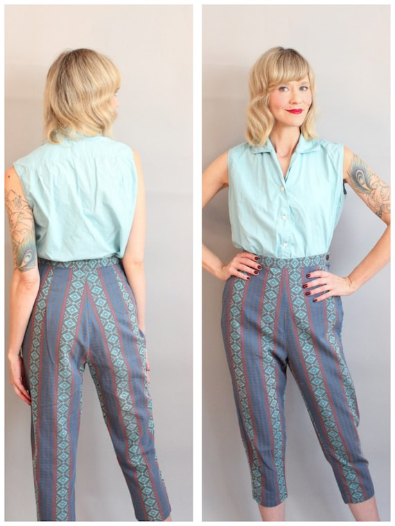 1950s Pants // Paddle & Saddle Embroidered Cigaret