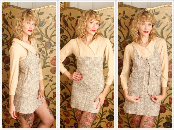 1960s Dress Set // Marlo Tweed Dress & Vest Set //