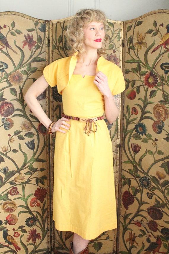 Early 1940s Dress // Eternal Sunshine Dress & Bol… - image 3