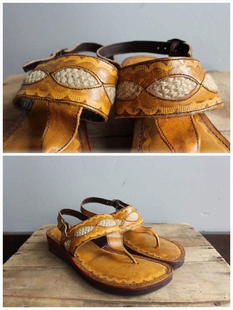 1970s Sandals // Rapallo Brazilian Sandals // vintage 70s image 0