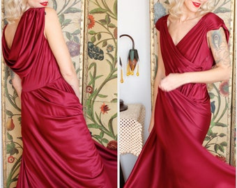 1970s Gown // New York City Lights Gown // vintage 70s disco gown