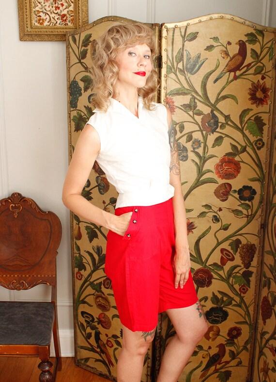1950s Shorts // Sally Togs Cotton Shorts // vinta… - image 5