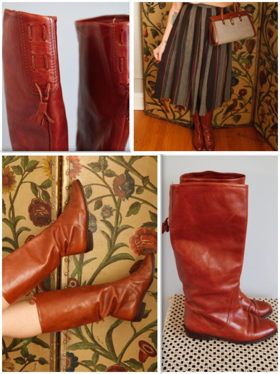1970s boots // Orcade Leather Tan Boots // vintage