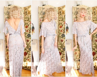 1930s Gown // Lust for Life Lace Gown // vintage 30s gown