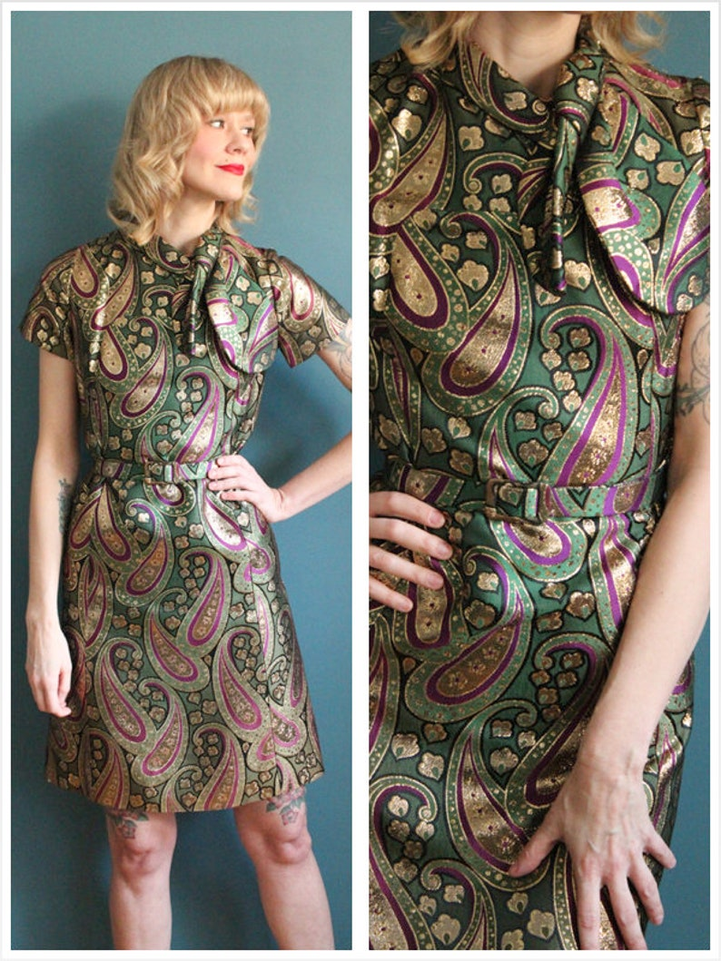 1960s Dress // Queen of Spades Party Dress // vintage 60s image 0