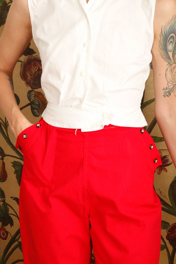1950s Shorts // Sally Togs Cotton Shorts // vinta… - image 4