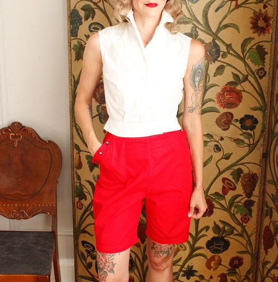 1950s Shorts // Sally Togs Cotton Shorts // vinta… - image 3