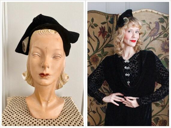 Reserved // 1930s Hat // Emily Myles Velvet Hat //