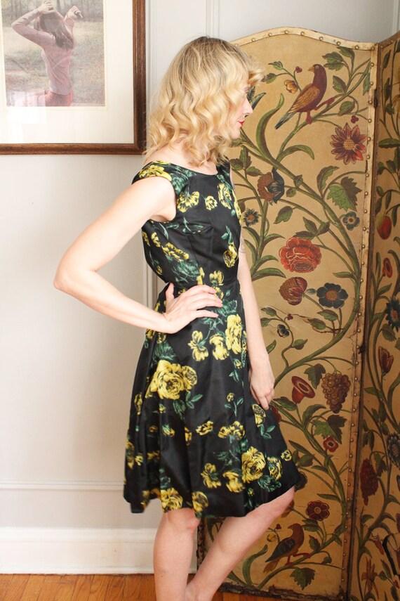 1960s Dress // Garden Party Silk Dress  // vintag… - image 6