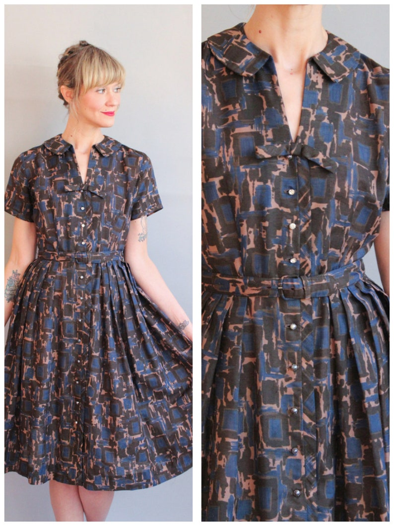 1960s Dress // Abstract Day Dress // vintage 60s dress image 0