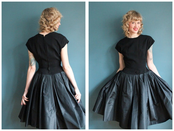 1950s Dress // NEW LOOK William Pearson Silk & Woo