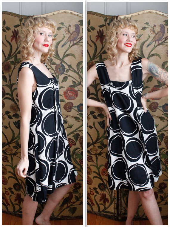 1960s Dress // Mod Circle Dress // vintage 60s dre