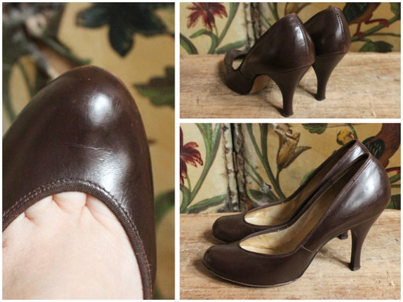 1940s Heels // Vamp Leather Stilettos // vintage 4