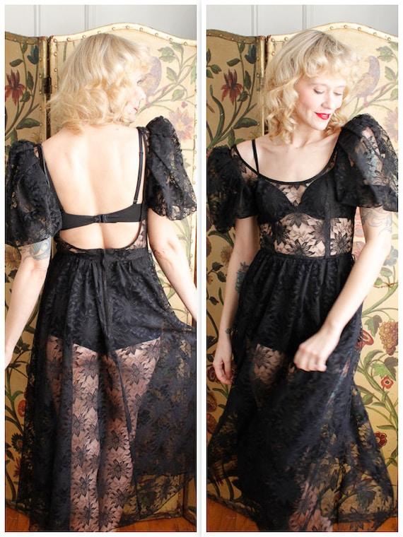 1980s Dress // Lose your Love Lace Dress // vintag