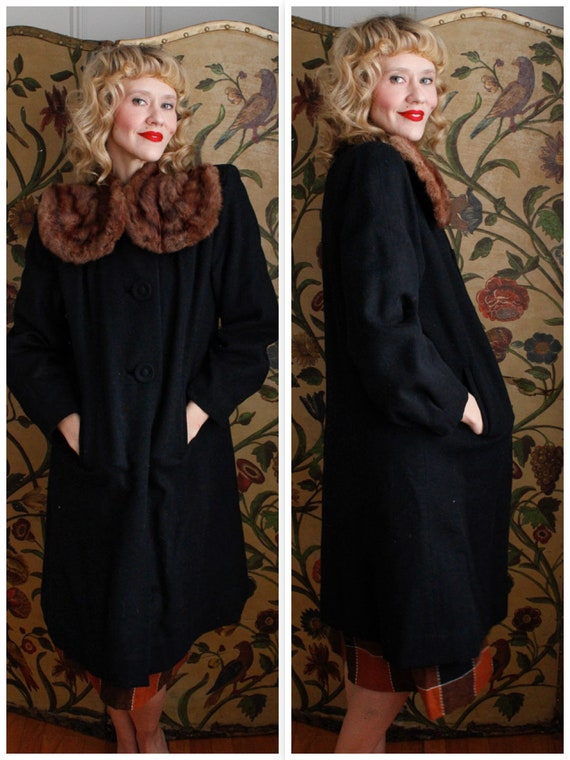 1940s Coat // Kerrybrooke Cozy Warm Winter Coat //