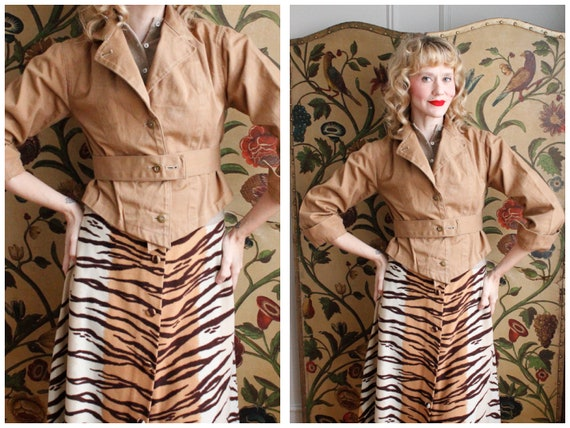 1940s Jacket // RARE British WLA Twill Crop Land G
