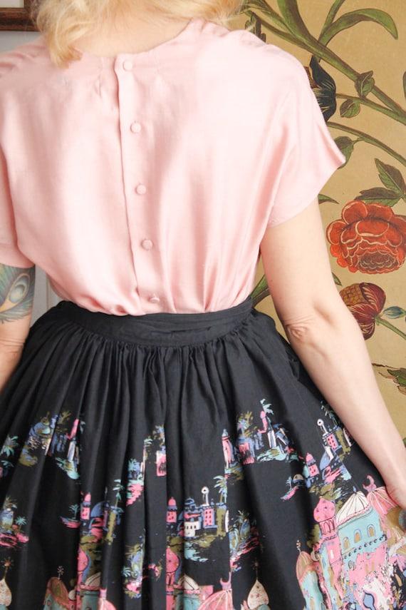1950s Blouse // Best & Co Pink Silk Blouse // vin… - image 8