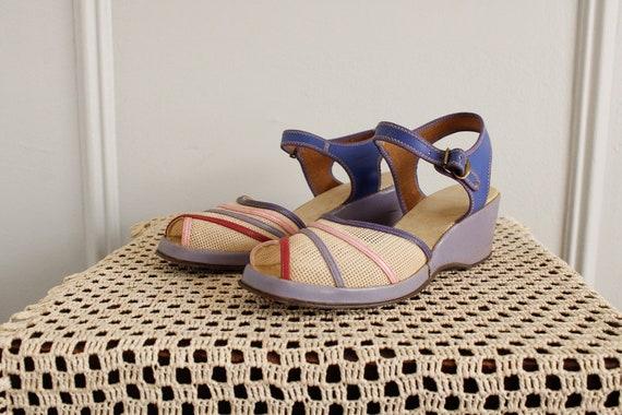 1940s Wedges // Summer Woven Sandals // vintage 4… - image 3