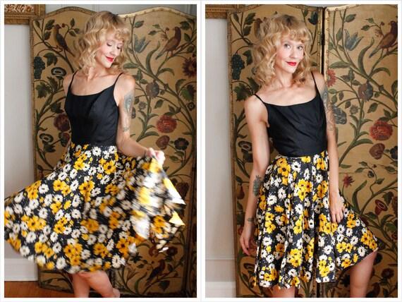1950s Dress // Daisy Jeweled Dress // vintage 50s