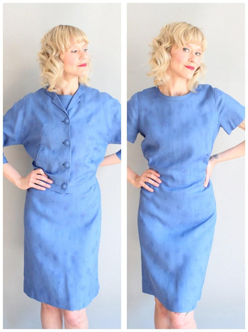 1950s Dress Set // Jédwins of Ogden Utah Dress & Jacket Set // image 0
