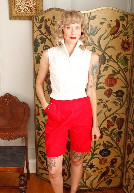 1950s Shorts // Sally Togs Cotton Shorts // vinta… - image 2