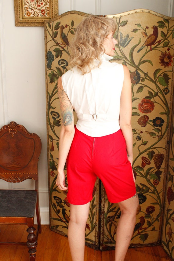 1950s Shorts // Sally Togs Cotton Shorts // vinta… - image 7