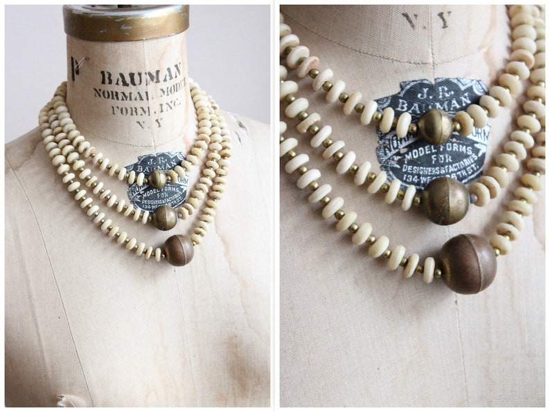 1970s Necklace // Beaded Camilla Necklace // vintage 70s image 0