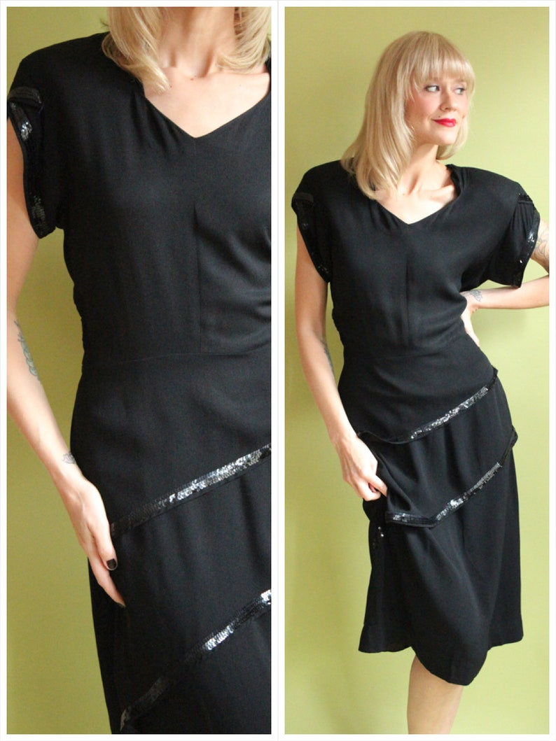1940s Dress // Dark Romance Dress // vintage 40s dress image 0
