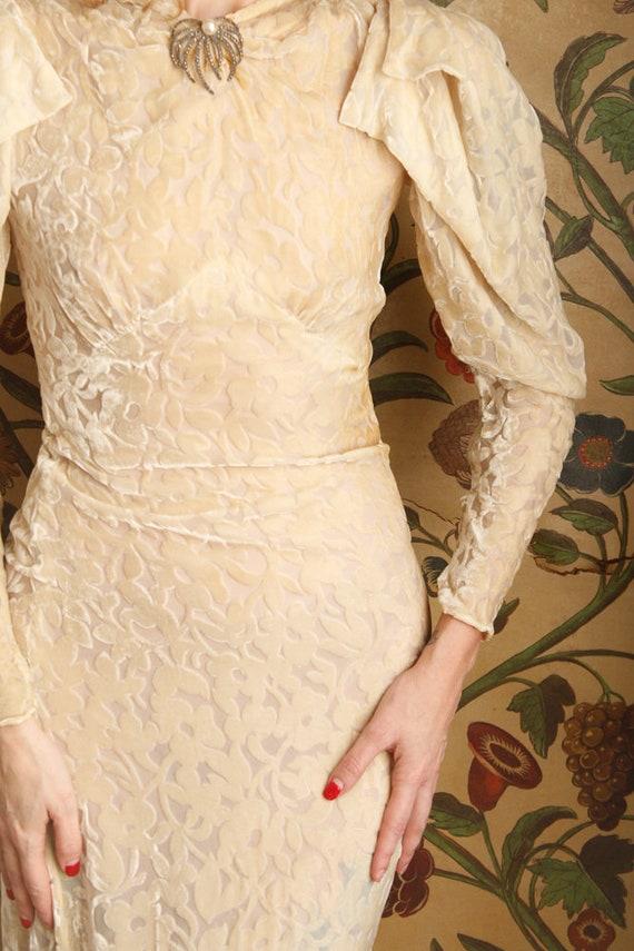 1930s Wedding Gown // Bewitching Silk Velvet Wedd… - image 4
