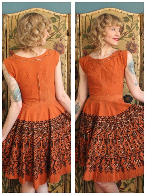 1950s Dress Set // Maya de Mexico 2pc Set // vinta
