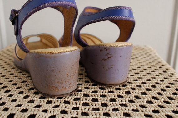 1940s Wedges // Summer Woven Sandals // vintage 4… - image 6