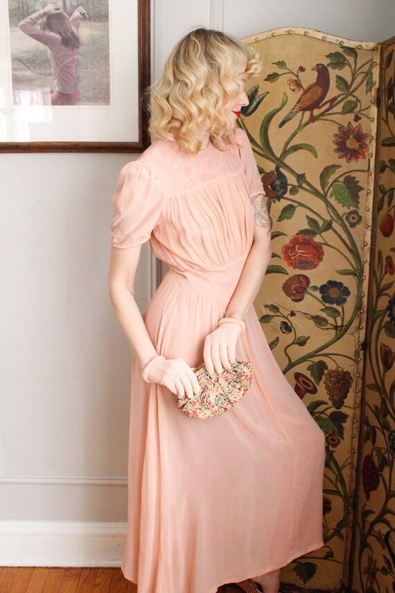 1940s Gloves // Pink Cotton Knit Gloves // vintag… - image 7