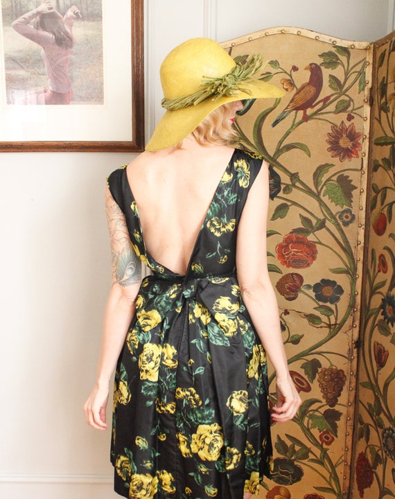 1960s Dress // Garden Party Silk Dress  // vintag… - image 8