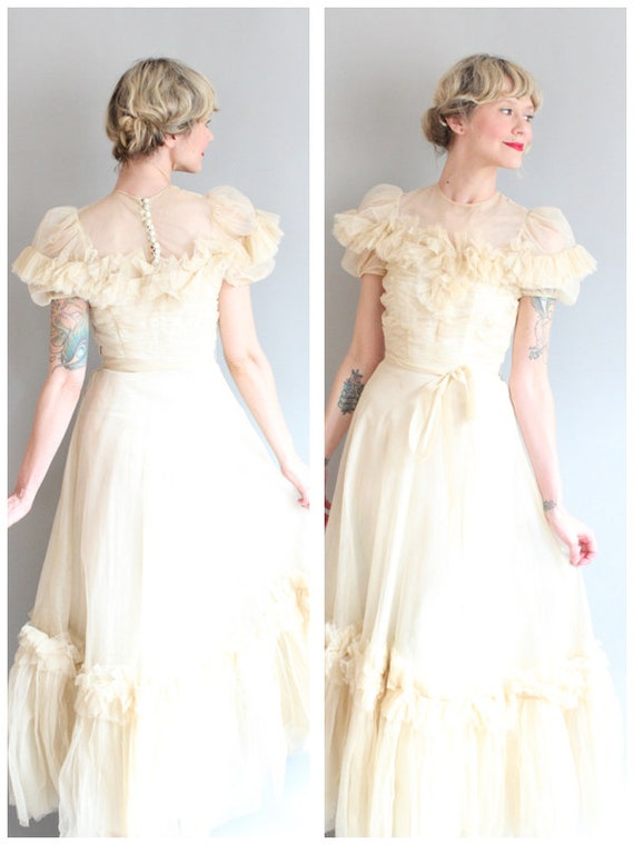1940s Wedding Gown Dancing On Clouds Wedding Dress Etsy