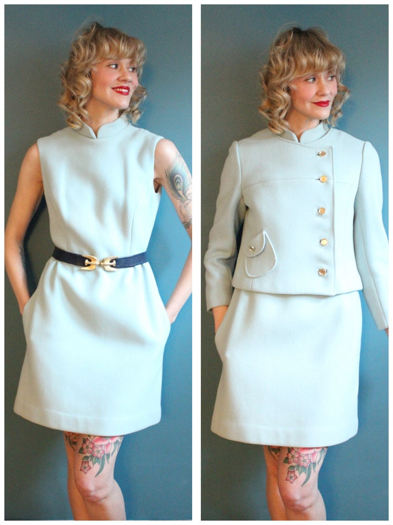 1960s Dress Set // Peck & Peck Wool Dress with Jacket // image 0