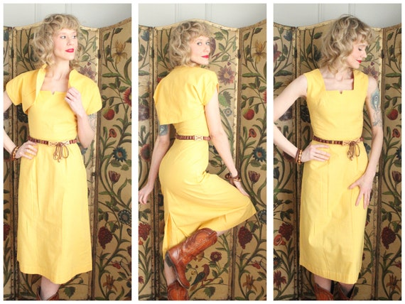Early 1940s Dress // Eternal Sunshine Dress & Bole