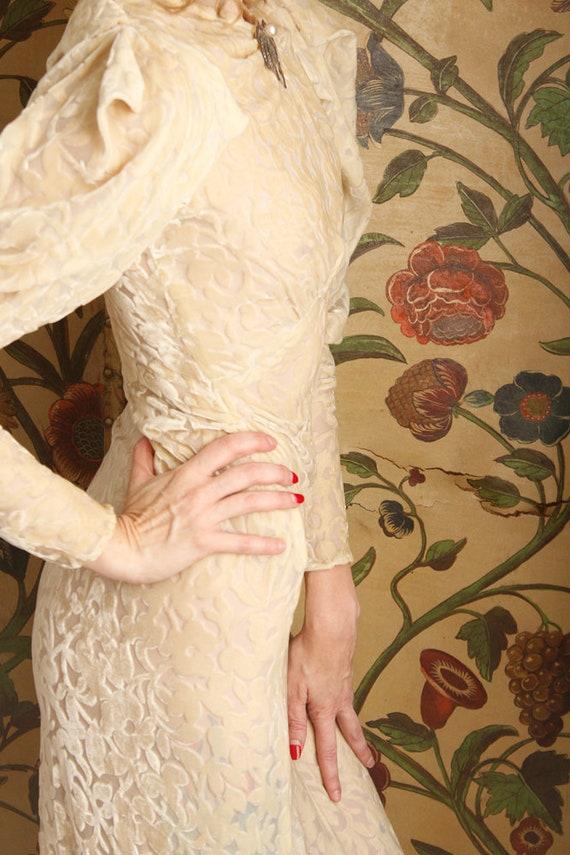 1930s Wedding Gown // Bewitching Silk Velvet Wedd… - image 7