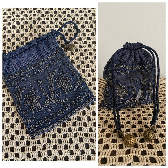 1920s Purse // Beaded Knit Purse // vintage 1920s