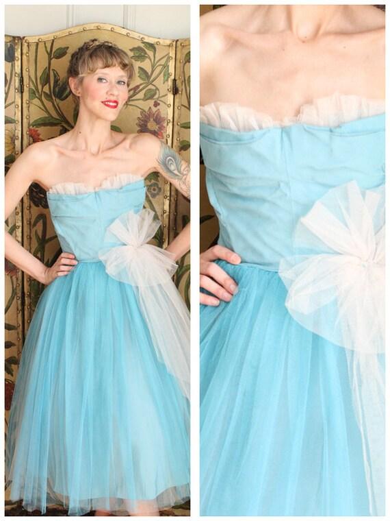 Late 40s Dress // Harlene Formal Dress // vintage