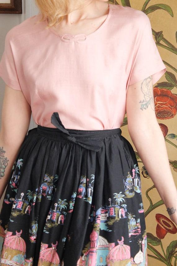 1950s Blouse // Best & Co Pink Silk Blouse // vin… - image 3