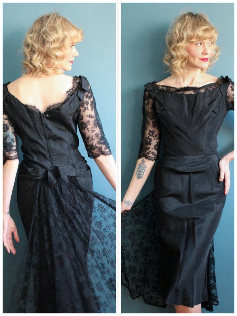 1950s Dress // Bombshell Cocktail Dress // vintage 50s dress image 0