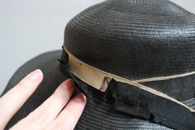 1940s Hat  Woven Cartwheel Dark Berry Hat  vintage 40s hat
